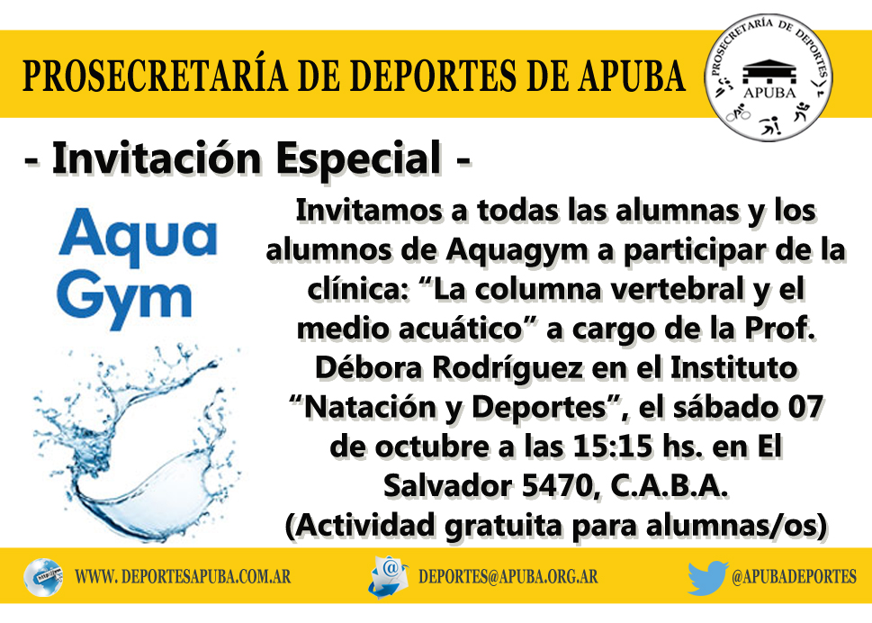 INVITACIÓN AQUAGYM