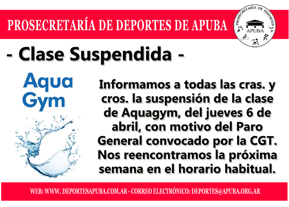 CLASE SUSPENDIDA PARO GENERAL